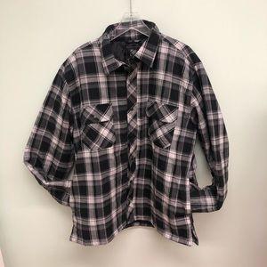 BC Clothing Flannel Coat: Black (PM592)